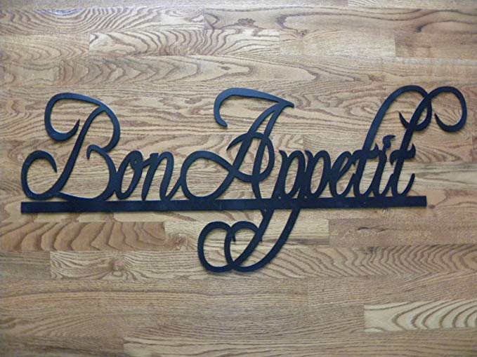 Say It All On The Wall Bon Appetit Sign Metal Wall Art Home/Restaurant Decor 37