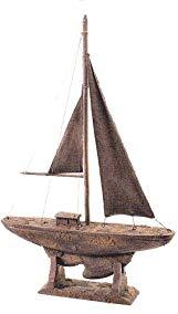 Antique Finish Model Sailboat Yacht