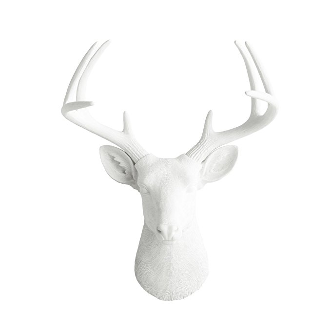 Wall Charmers Large Faux Deer Head The Virginia Room Decor Wall Art| Hand Finished Home Decor, Farmhouse Decor Bedroom Decor Bathroom Decor Office Decor Rustic Wall Decor Rustic Home Decor Accents