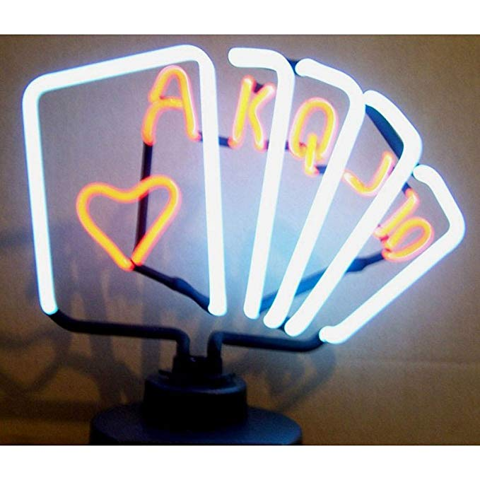 Neonetics Indoor Decoratives Royal Flush Poker Neon Sculpture