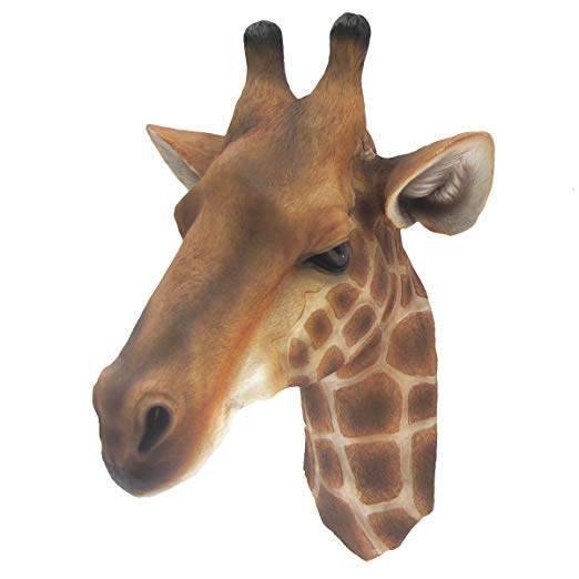 3D Life Size Wall Mount Giraffe Head Bust Childrens/Kids Room Jungle Theme Decor